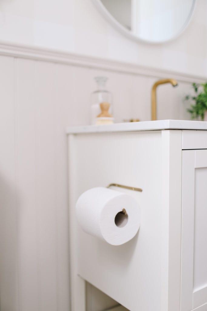 brass toilet paper roll holder