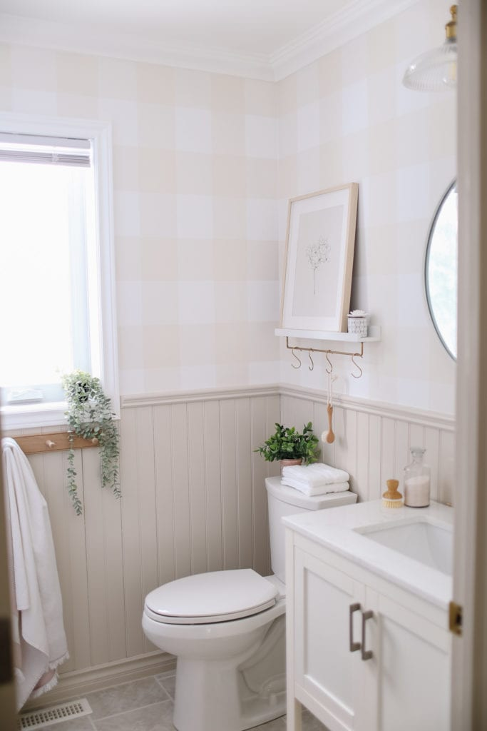 English country style small bathroom refresh