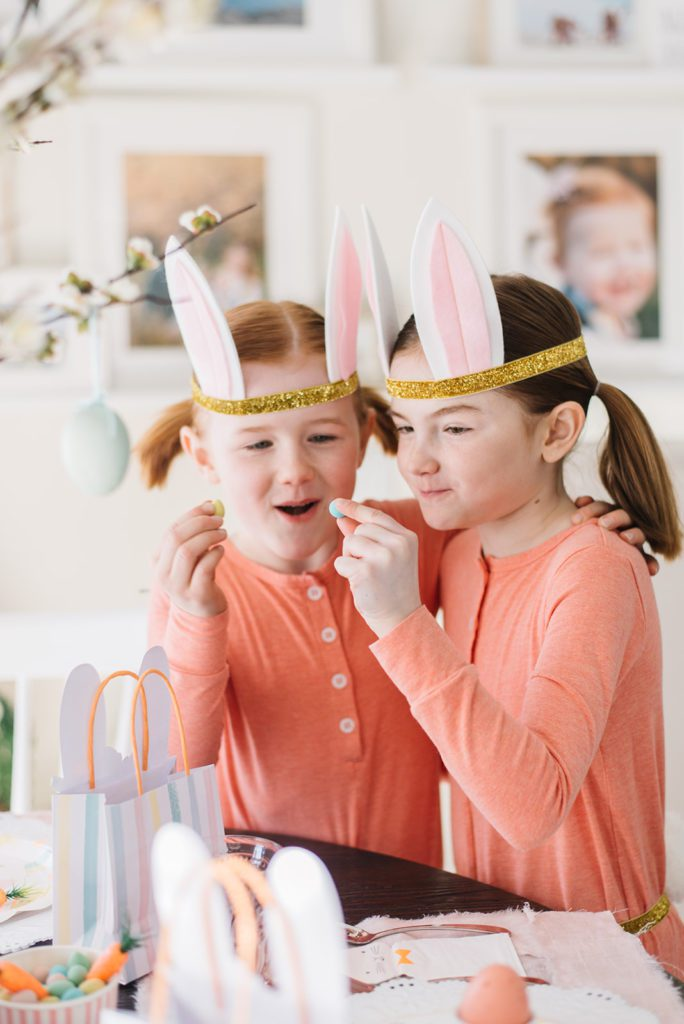 Kids bunny themed easter decor